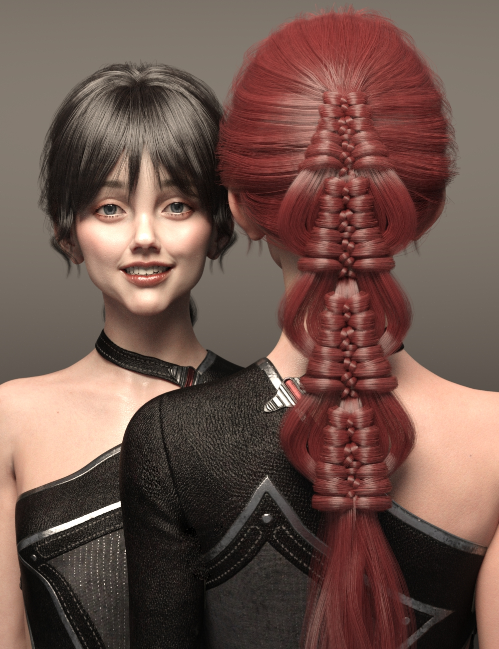 Hui Hair for Genesis 8 and 8.1 Females by: Ergou, 3D Models by Daz 3D