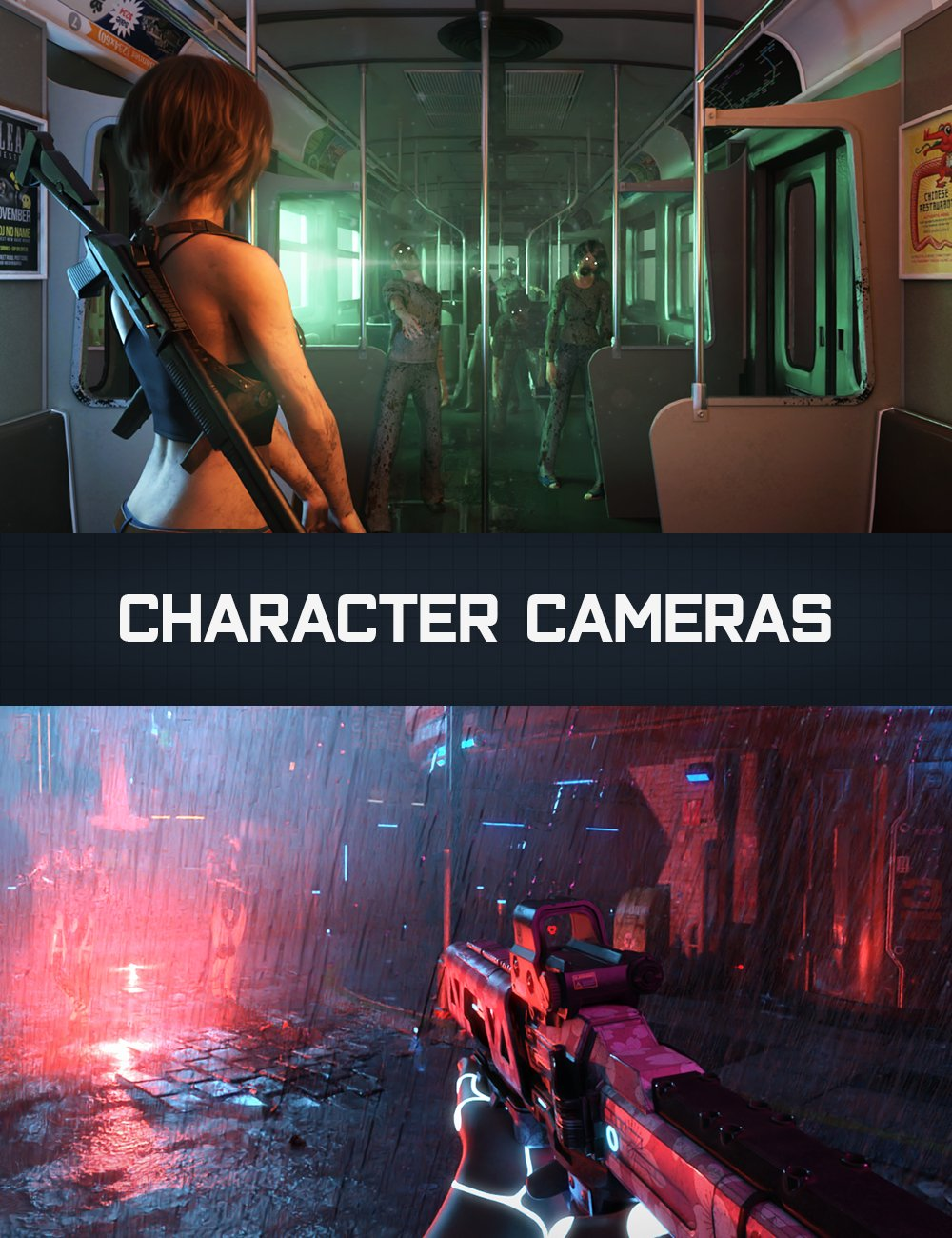 KACC Character Cameras for Genesis 8 by: KindredArts, 3D Models by Daz 3D
