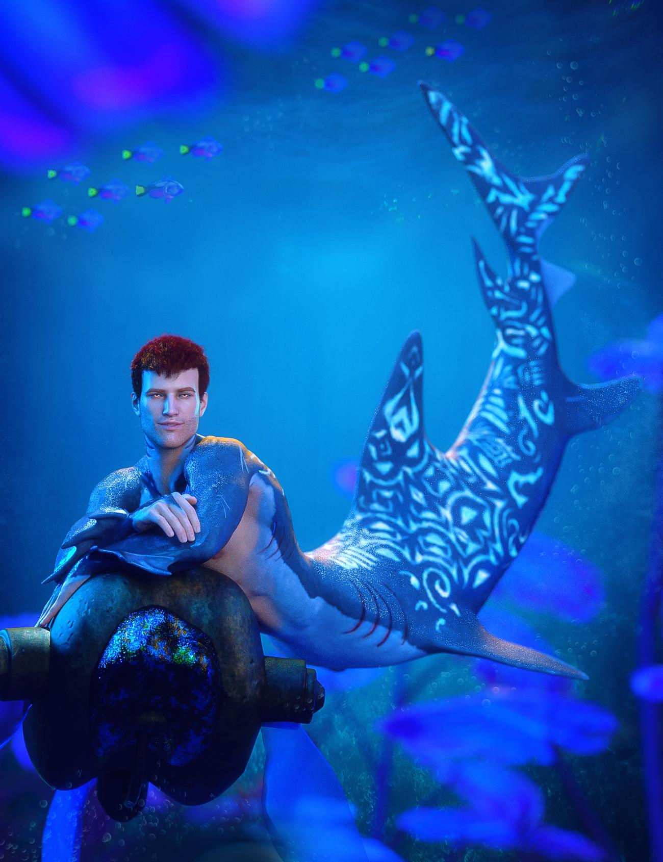 Shark Tail for Genesis 8 Males by: FenixPhoenixEsid, 3D Models by Daz 3D