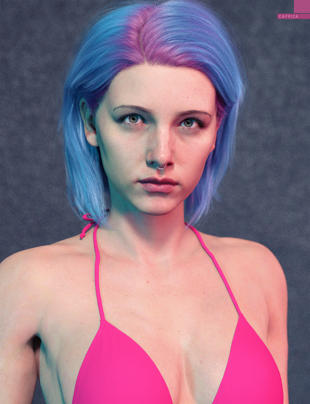 Caprica HD with HD Expressions for Genesis 8.1 Female by: bluejaunte, 3D Models by Daz 3D