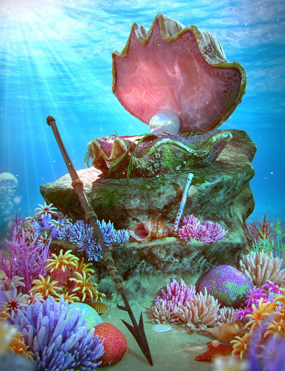 Under the Sea Props for Genesis 8.1 by: ThreeDigital, 3D Models by Daz 3D