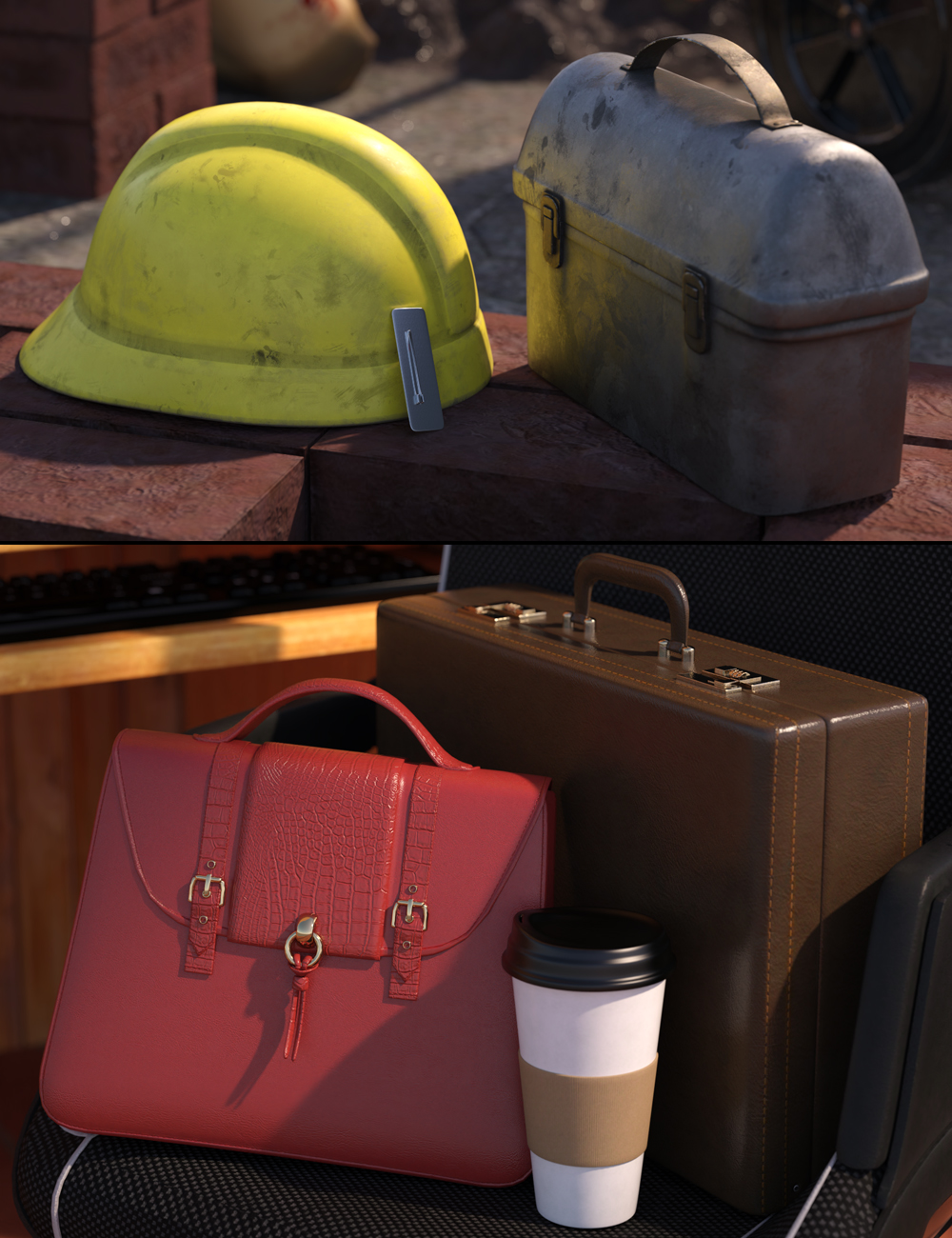 Going to Work Props for Genesis 8 and 8.1 by: Nikisatez, 3D Models by Daz 3D