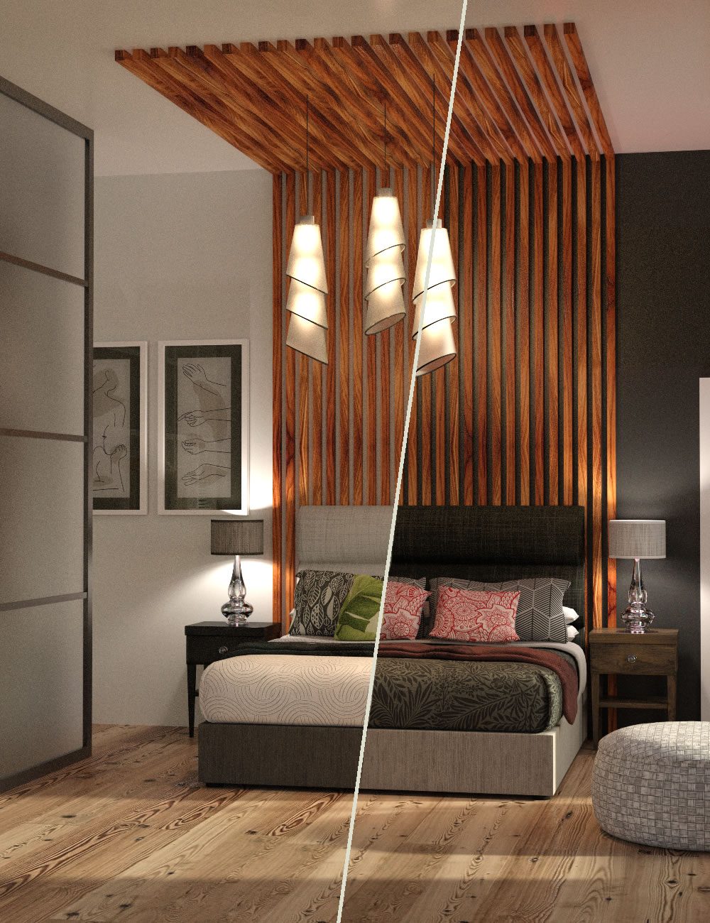 Dream-On Bedroom with Genesis 8 Female Poses by: SilvaAnt3d, 3D Models by Daz 3D