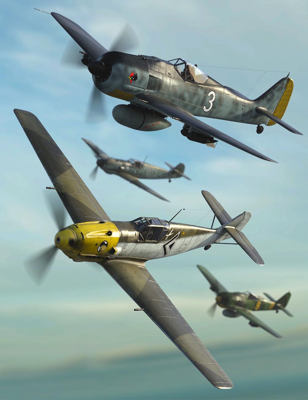 WW2 Axis Warplanes Bundle by: Predatron, 3D Models by Daz 3D