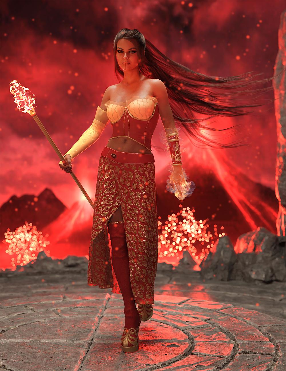 dForce Florentine Outfit for Genesis 8 and 8.1 Females by: AmaranthPixelTizzyFit, 3D Models by Daz 3D