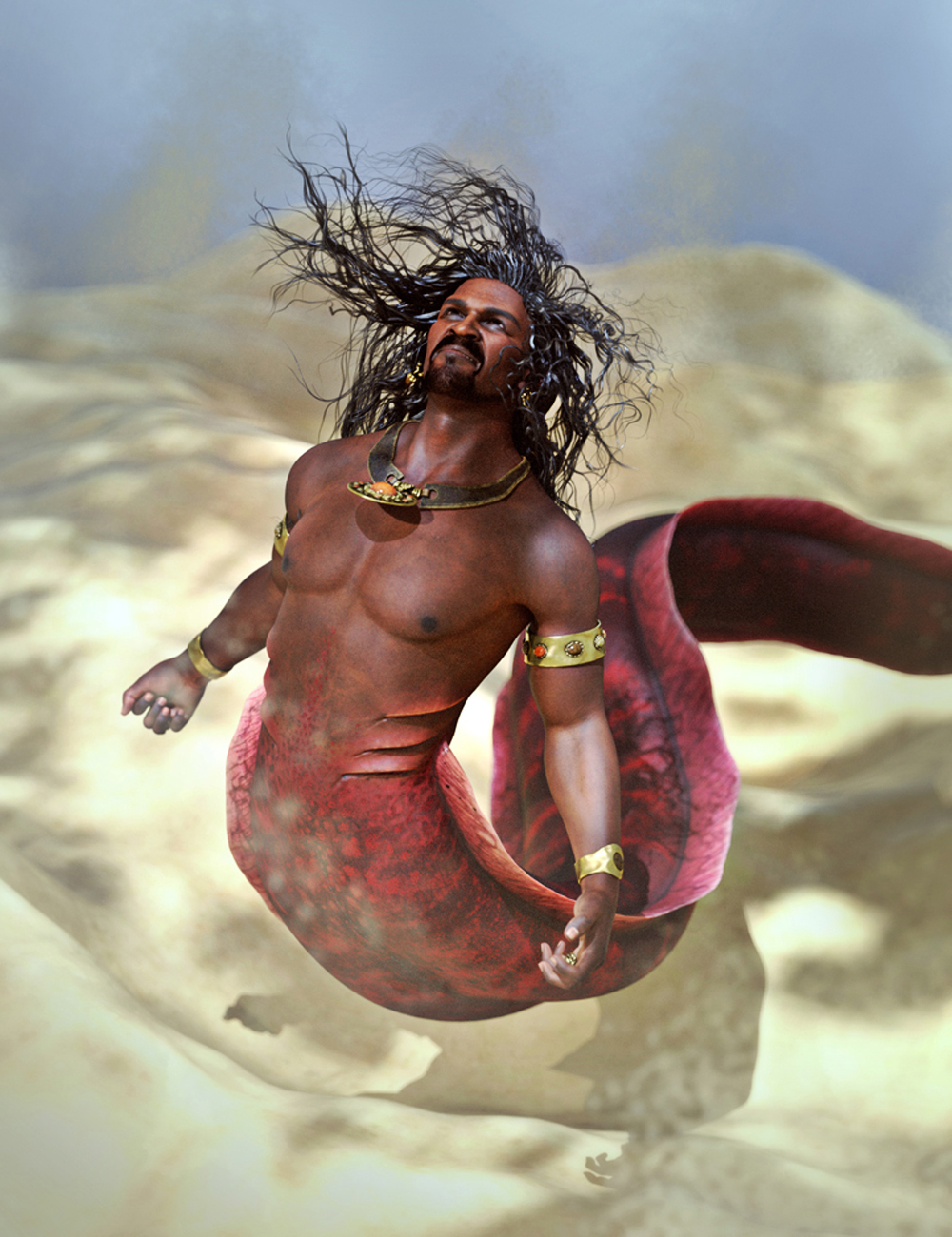 SBibb Cursed Merman Poses and Expressions for Zale 8.1 by: SBibb, 3D Models by Daz 3D
