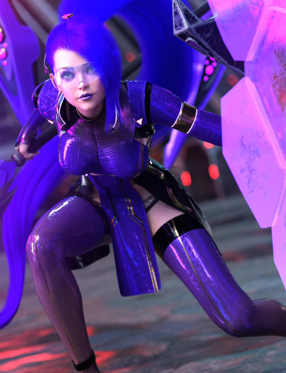 dForce Tenebris Outfit for Genesis 8.1 Females by: HM, 3D Models by Daz 3D