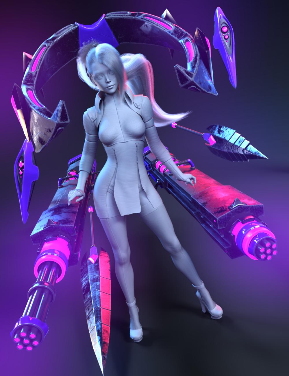 Tenebris Weapons Set for Genesis 8.1 Females by: HM, 3D Models by Daz 3D