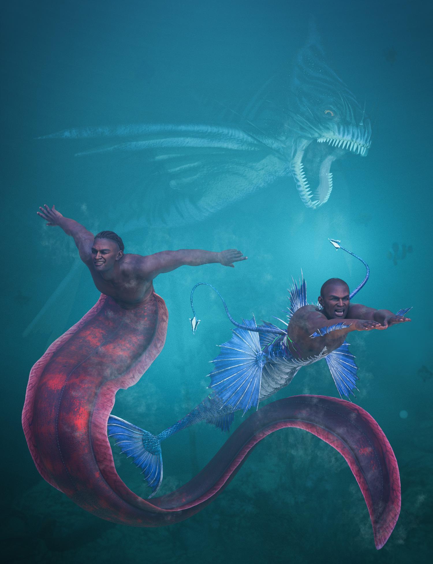 Zale 8.1 Deep Sea King Bundle by: , 3D Models by Daz 3D