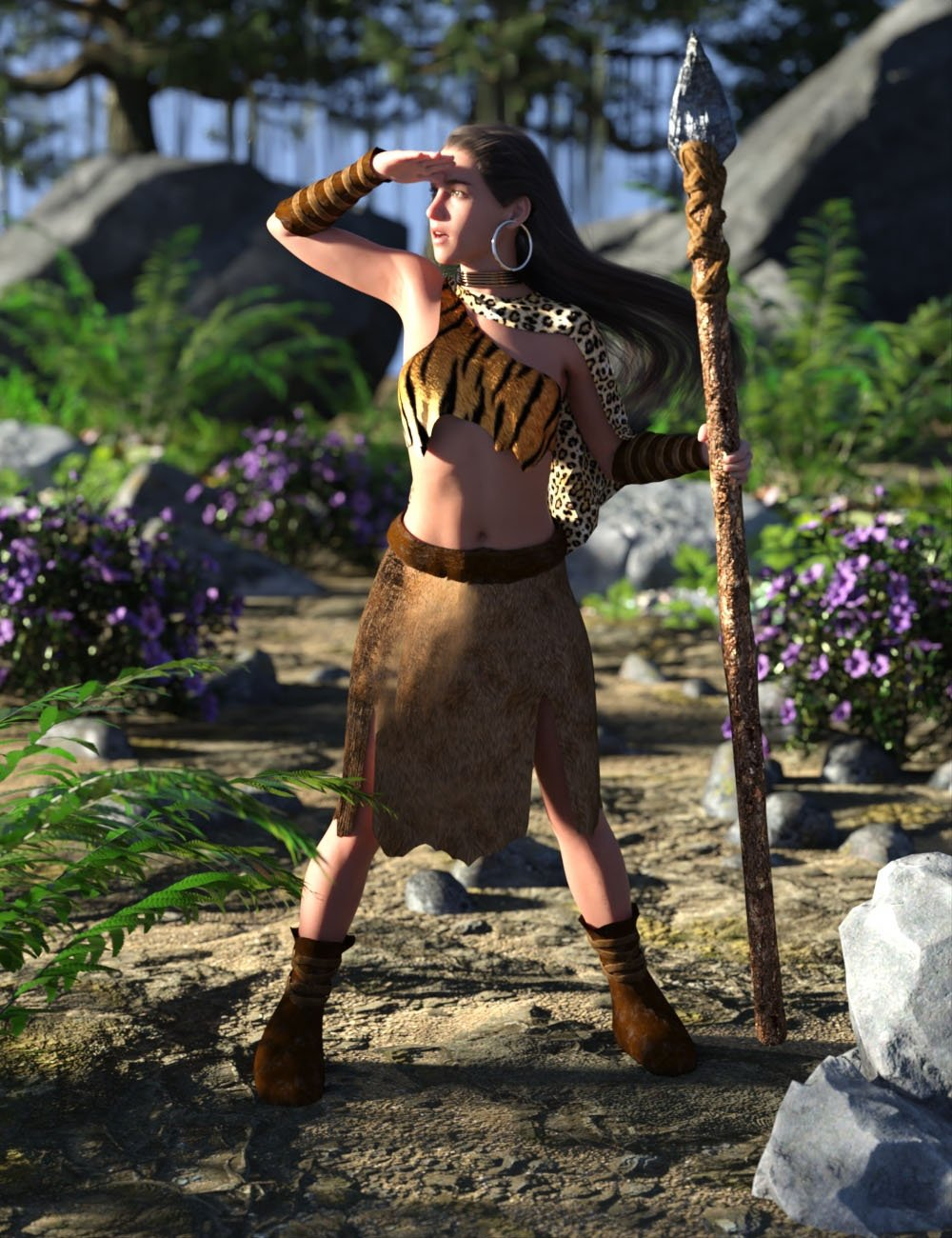 dForce Wild Woman Outfit for Genesis 8 Female by: AcharyaPolina, 3D Models by Daz 3D