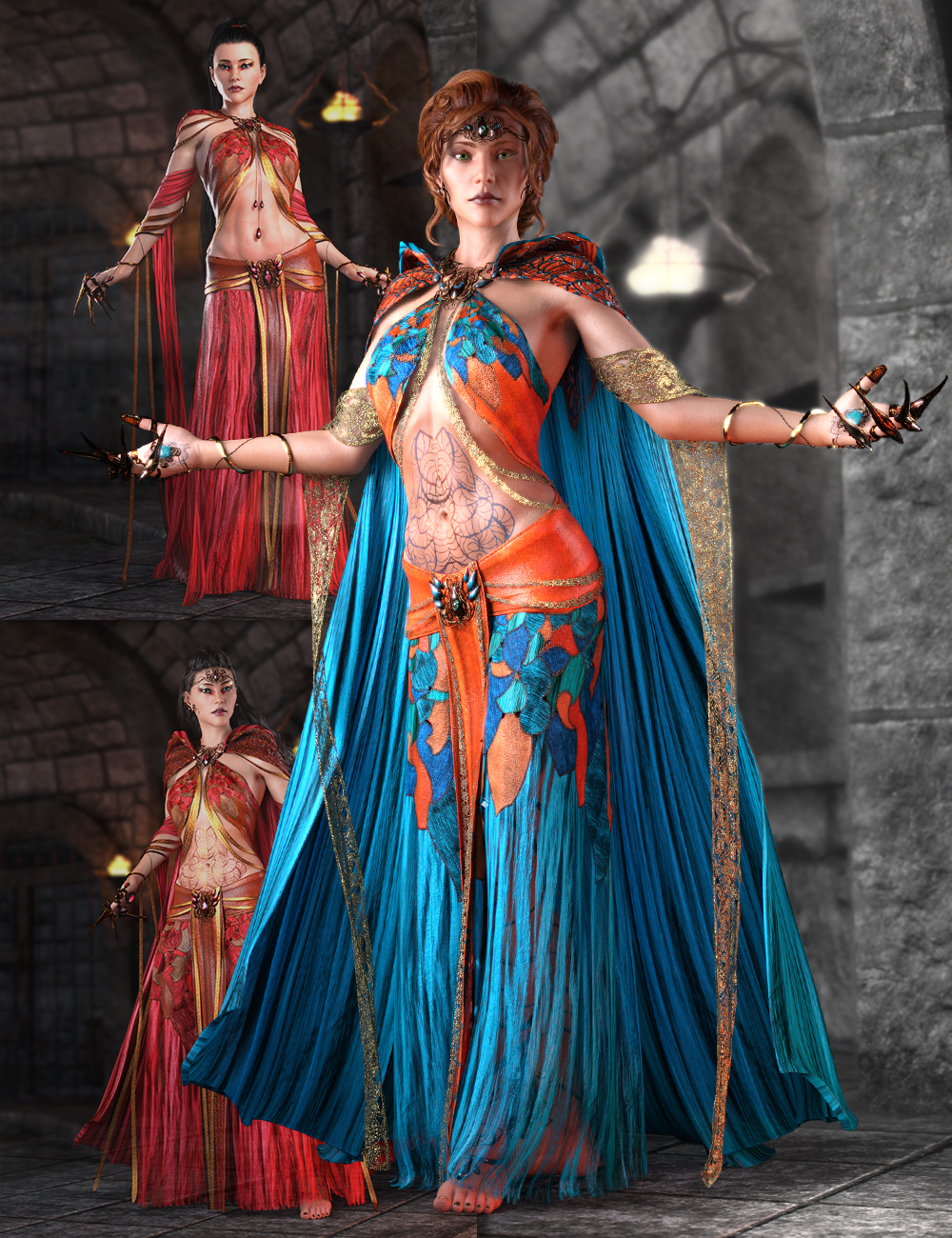 dForce Steelwitch Bundle for Genesis 8 and 8.1 Female by: ArkiShox-Design, 3D Models by Daz 3D