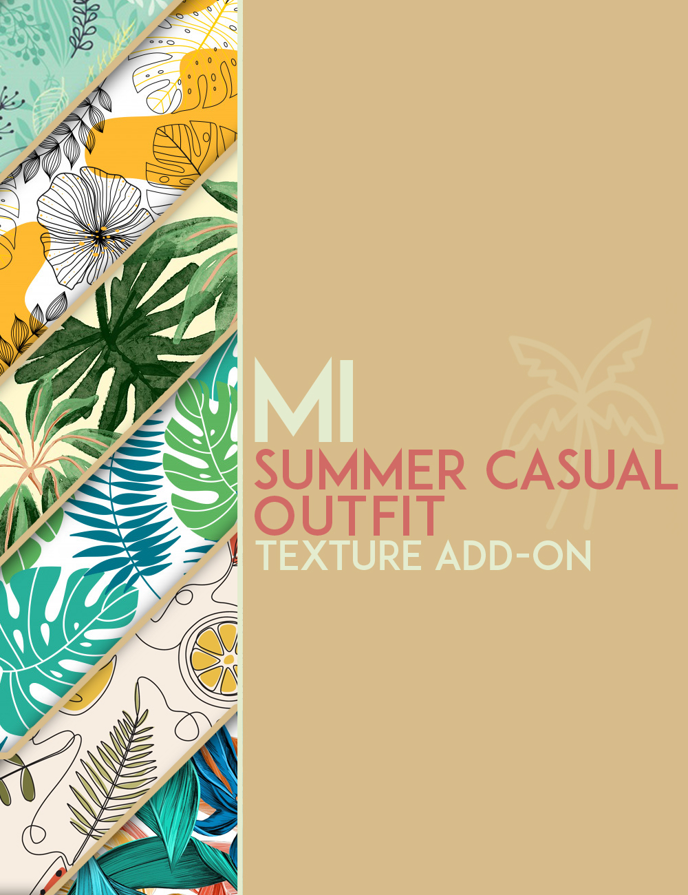 dForce MI Summer Casual Outfit Texture Add-on by: mal3Imagery, 3D Models by Daz 3D