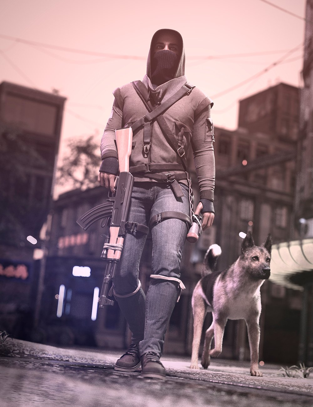Dystopian HD Outfit for Genesis 8 and 8.1 Males by: Luthbellina, 3D Models by Daz 3D