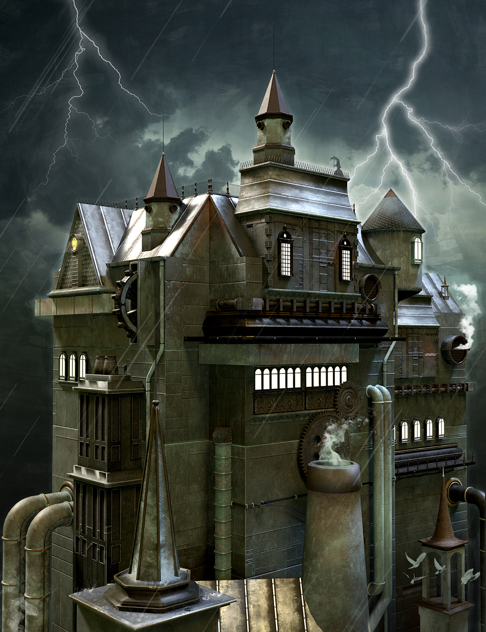 Victorian Steampunk Construction Set by: The AntFarm, 3D Models by Daz 3D