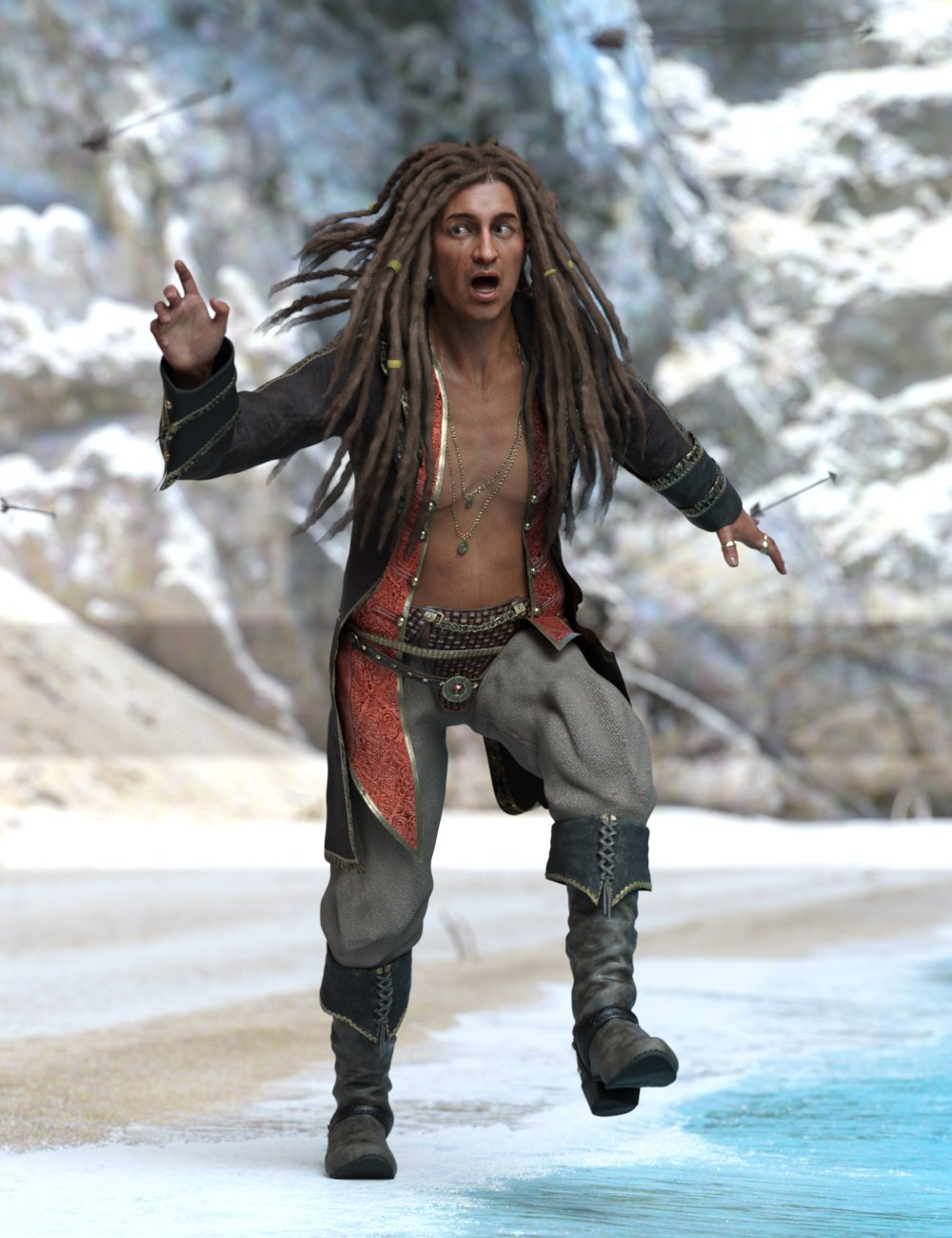 Captain Wolfgang Poses for Wolfgang 8.1 by: Ensary, 3D Models by Daz 3D