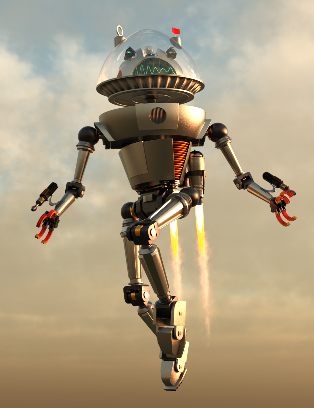 Robot X95A by: Those Things, 3D Models by Daz 3D