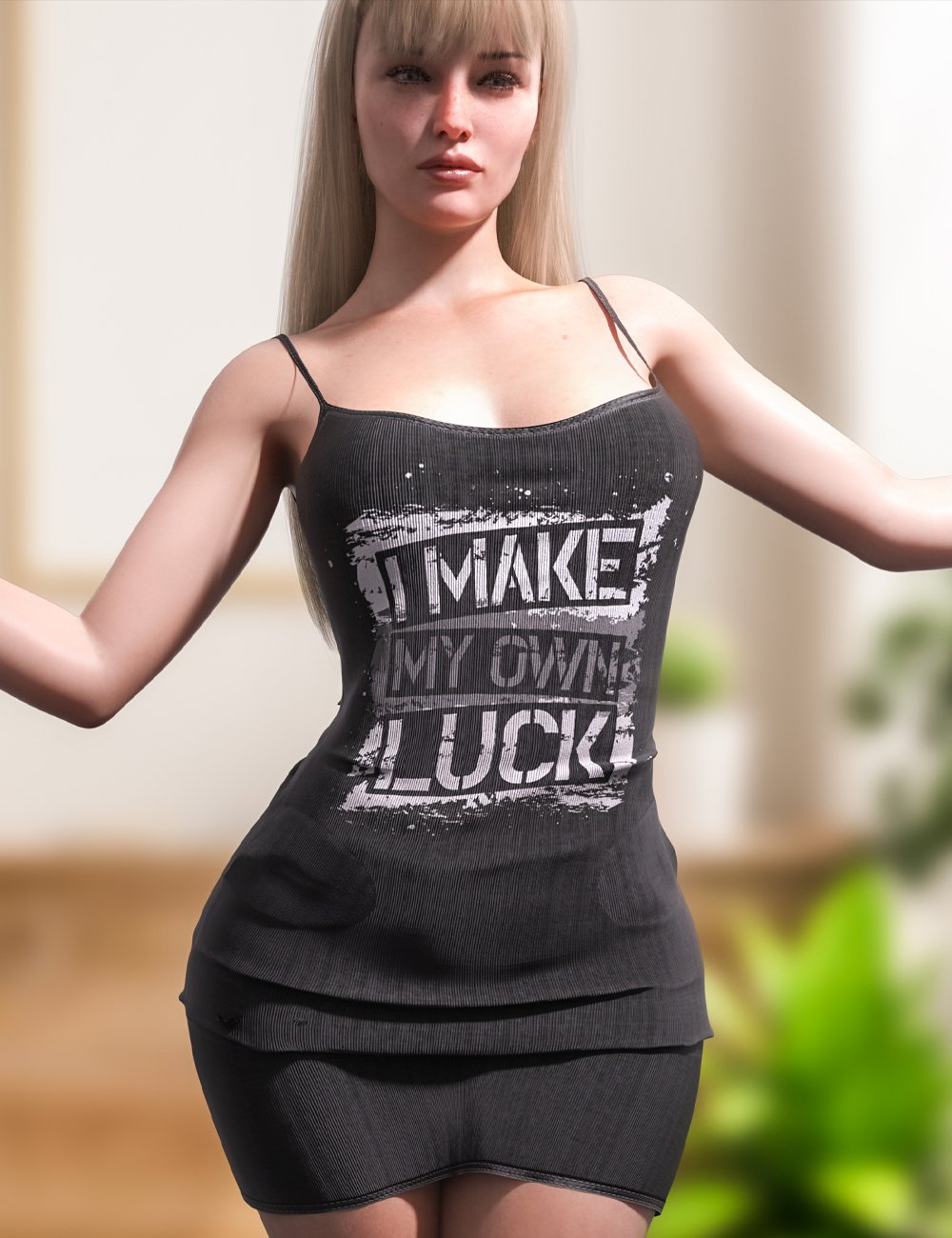 dForce Summer Sleeveless Dress for Genesis 8 and 8.1 Females by: fefecoolyellow, 3D Models by Daz 3D