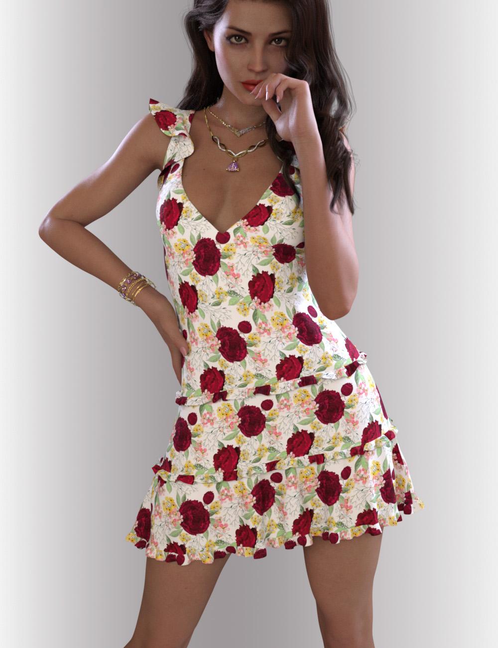 dForce Skyler Dress Outfit for Genesis 8.1 Females by: OnnelArryn, 3D Models by Daz 3D