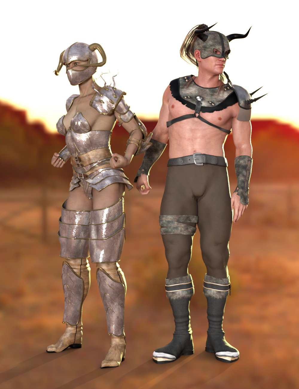 SY Victoria 3 and Michael 3 Clones for Genesis 8 by: Sickleyield, 3D Models by Daz 3D