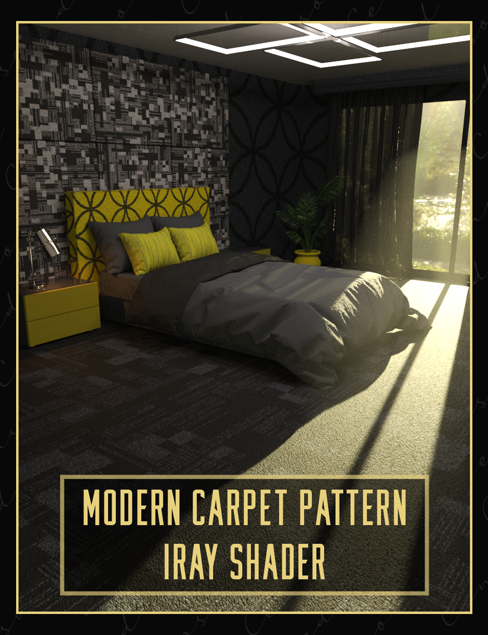 Modern Carpet Pattern Iray Shader by: Censored, 3D Models by Daz 3D