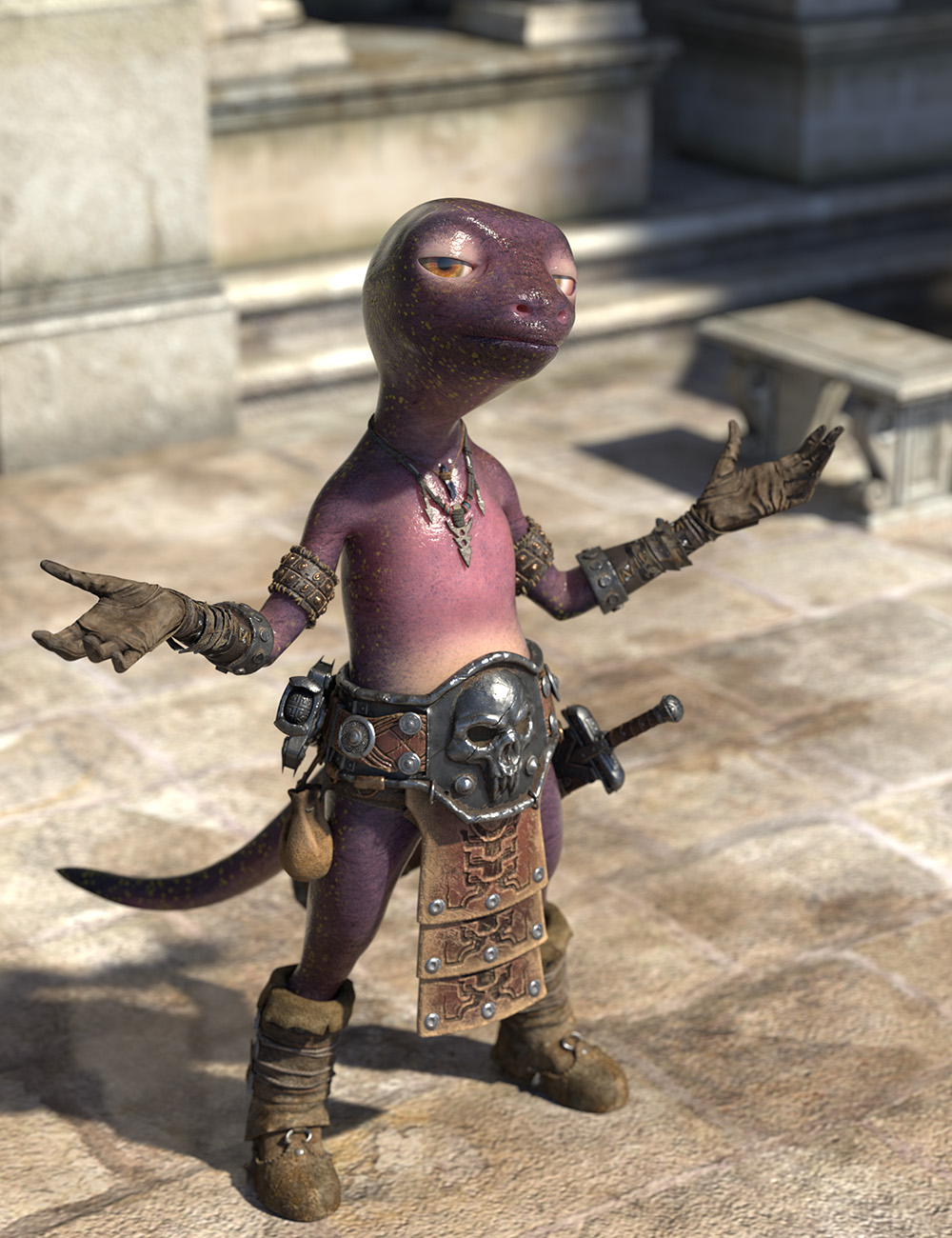 Oso Newt for Genesis 8.1 Male by: Oso3D, 3D Models by Daz 3D