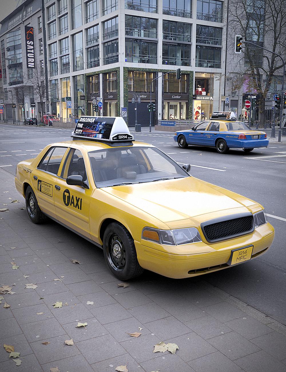 Downtown Taxi by: RedCrow3DArtOdyssey, 3D Models by Daz 3D
