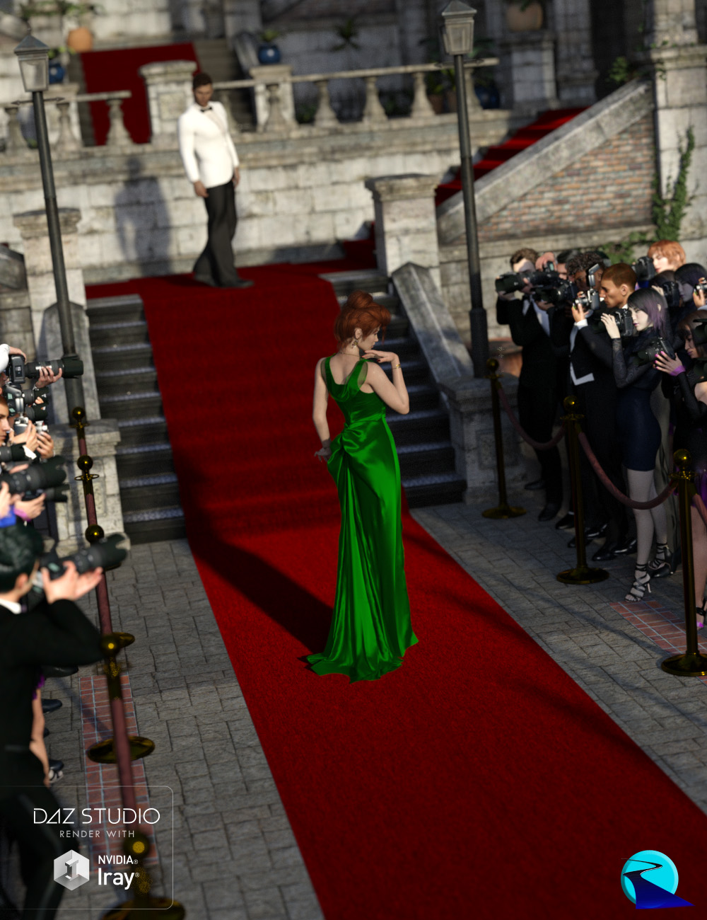 Now-Crowd Billboards - Paparazzi Award Photographers by: RiverSoft Art, 3D Models by Daz 3D