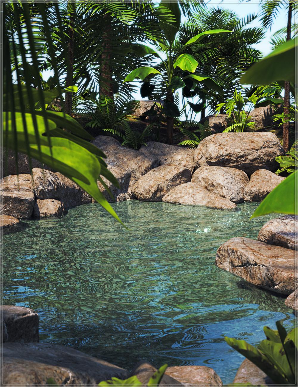 Lagoon Pool by: Nikisatez, 3D Models by Daz 3D