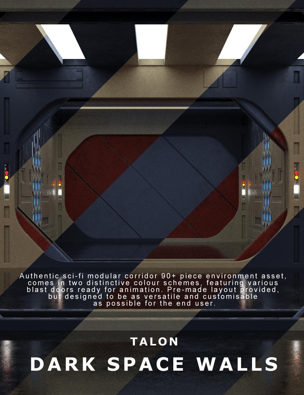 TALON Dark Space Walls by: Talon, 3D Models by Daz 3D