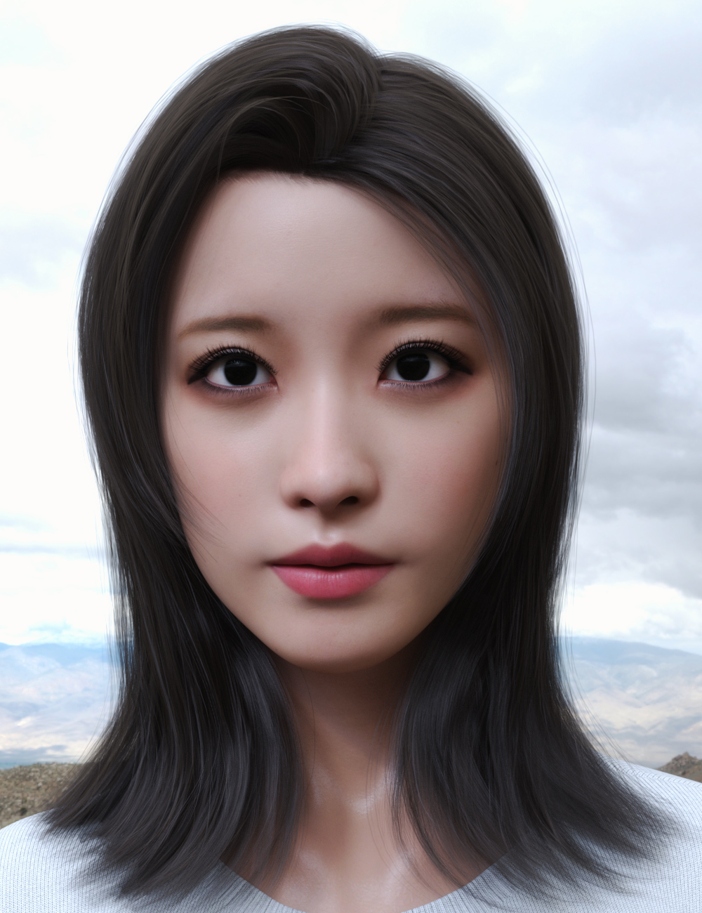 Yami Character and Hair for Genesis 8.1 Female by: GoannaSprite, 3D Models by Daz 3D