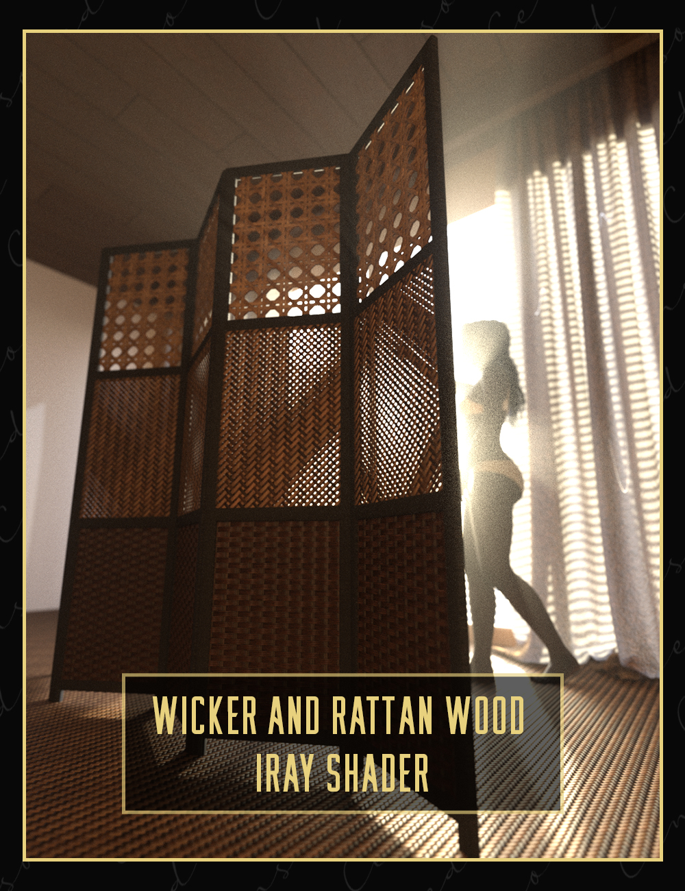Wicker and Rattan Wood Iray Shader by: Censored, 3D Models by Daz 3D