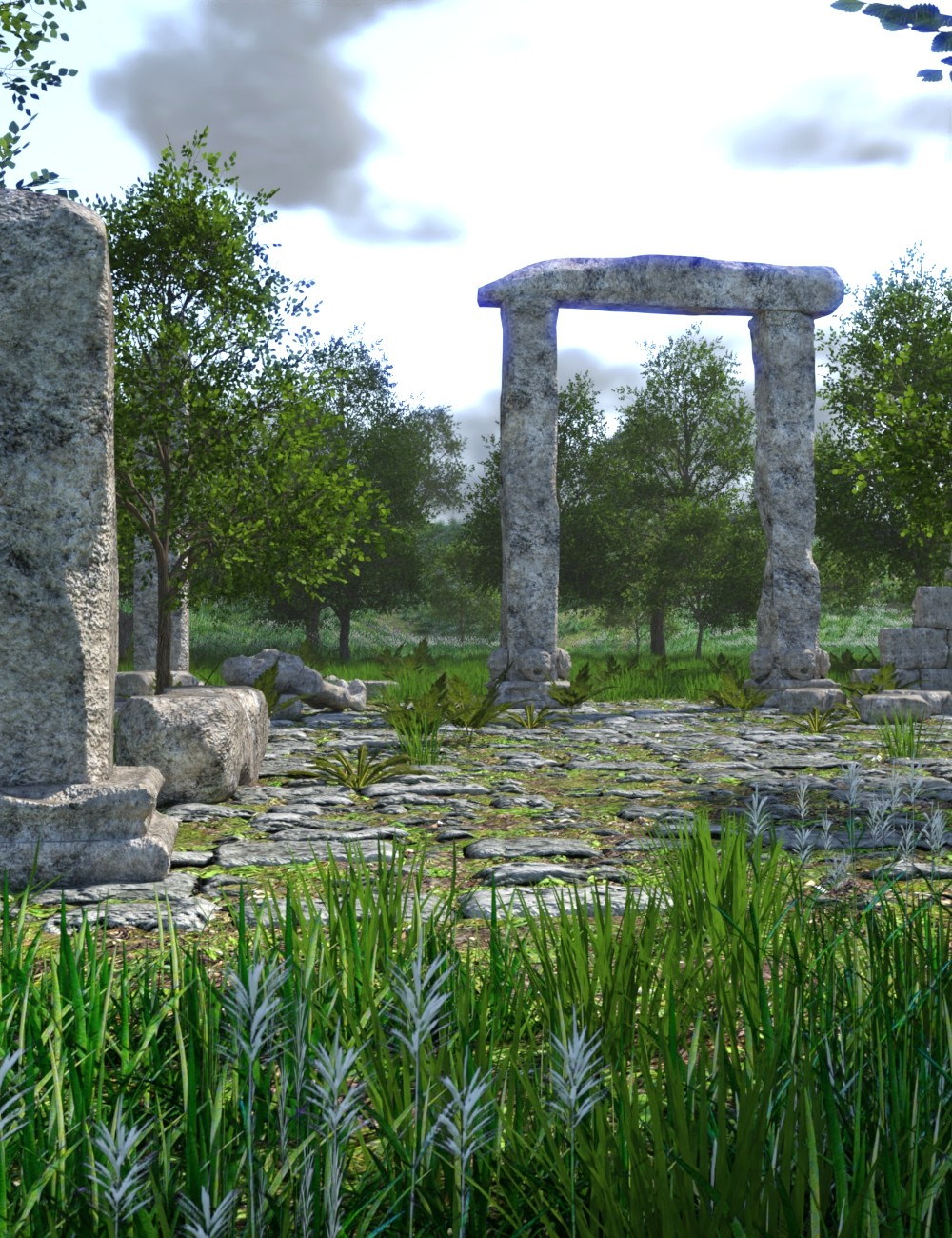 The Valley of Ruins by: JeffersonAF, 3D Models by Daz 3D