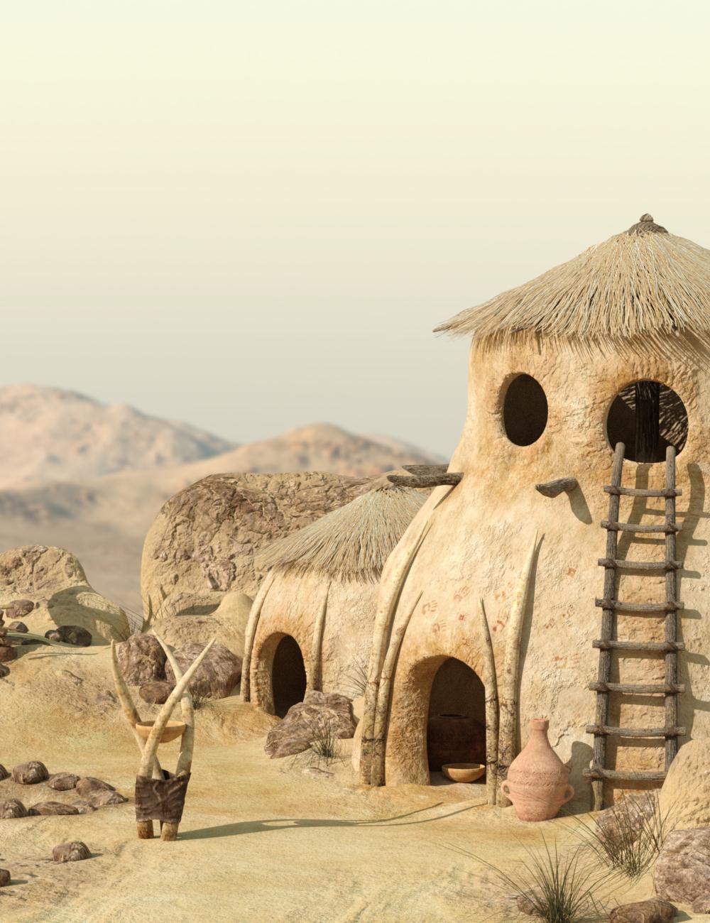 v176 Desert Tribe Hut by: vikike176, 3D Models by Daz 3D