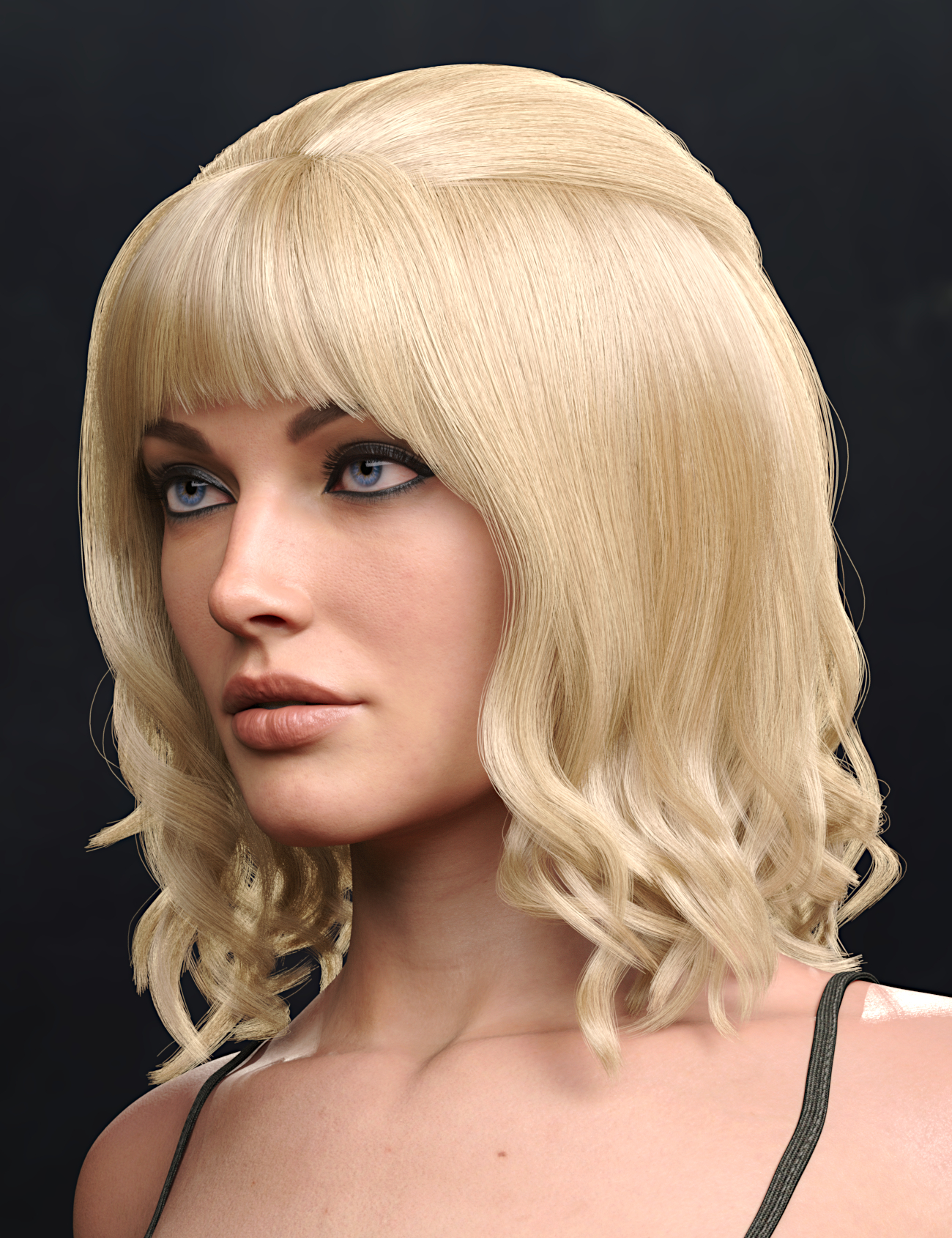 Brigit Hair for Genesis 8 and 8.1 Females by: Toyen, 3D Models by Daz 3D