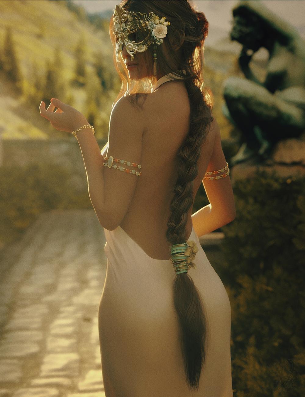 dForce Open Back Dress for Genesis 8 Female by: ImagineXIllumination, 3D Models by Daz 3D