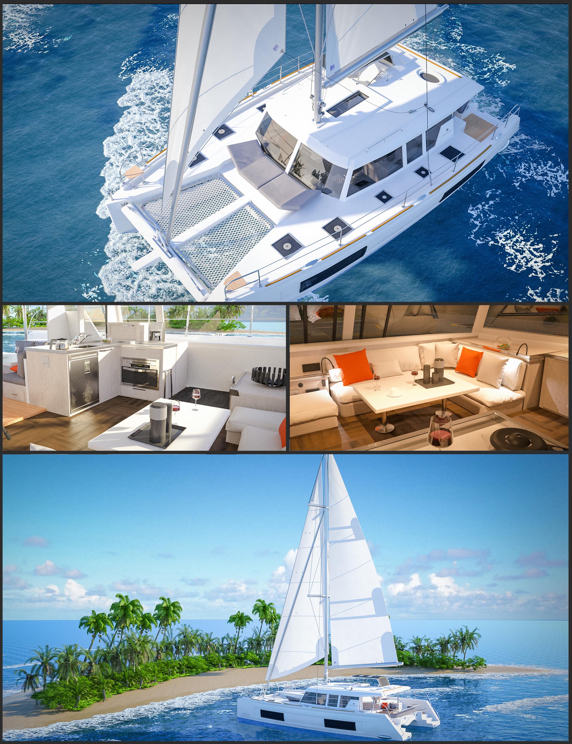 Glowing Beach Sailboat by: Polish, 3D Models by Daz 3D