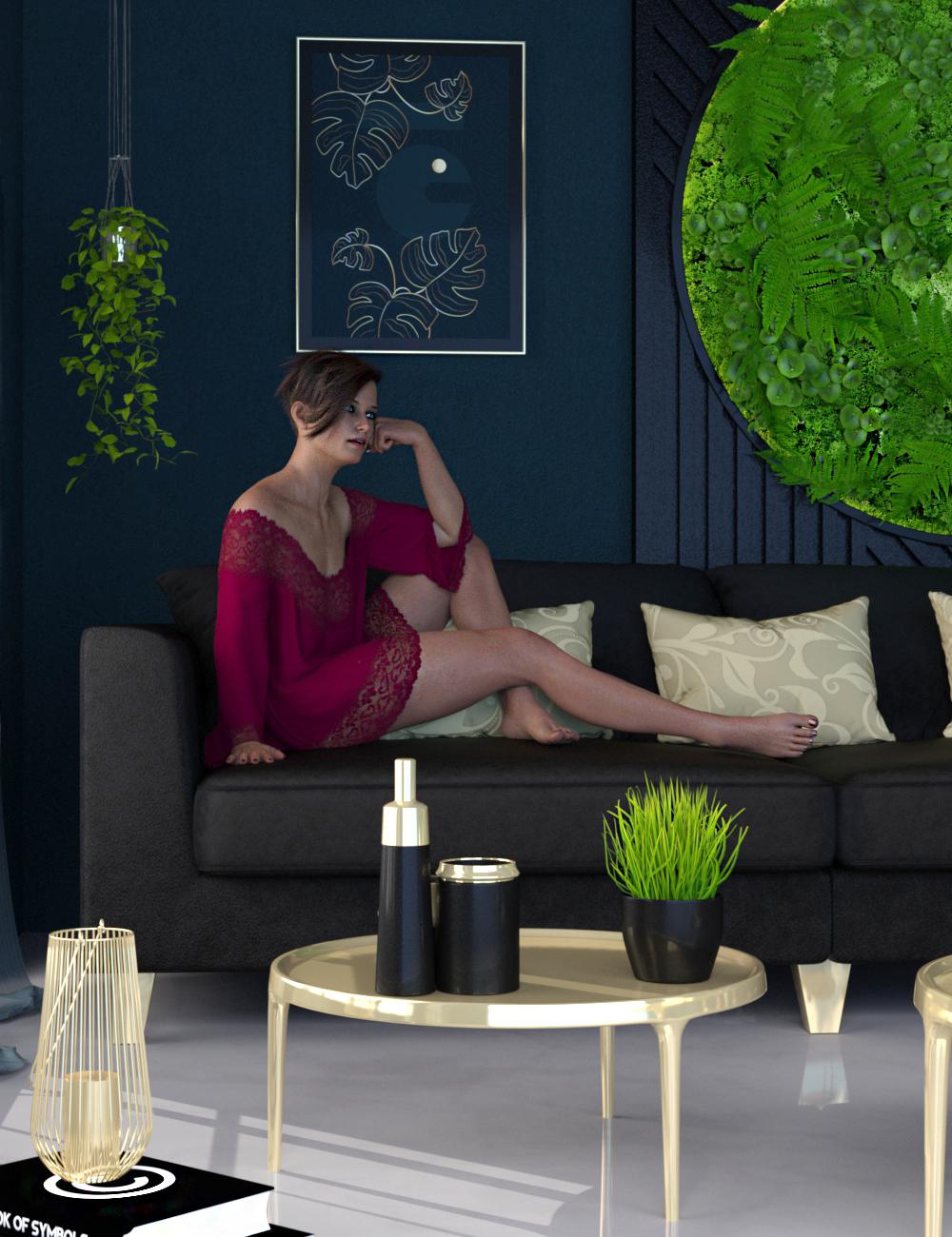 Elegant Modern Vignette by: 3DStyle, 3D Models by Daz 3D