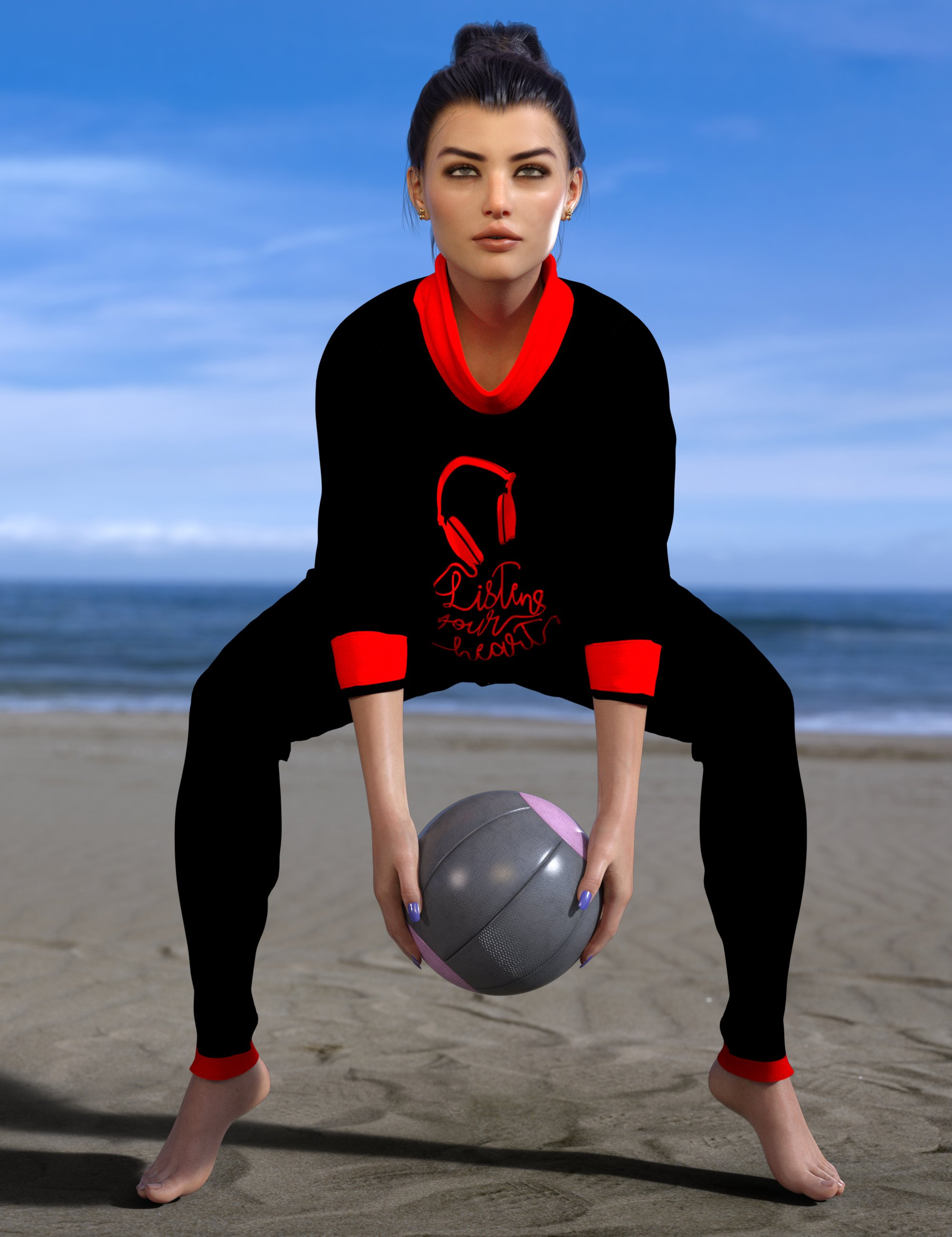 dForce Allegra Outfit for Genesis 8 and 8.1 Females by: Nelmi, 3D Models by Daz 3D