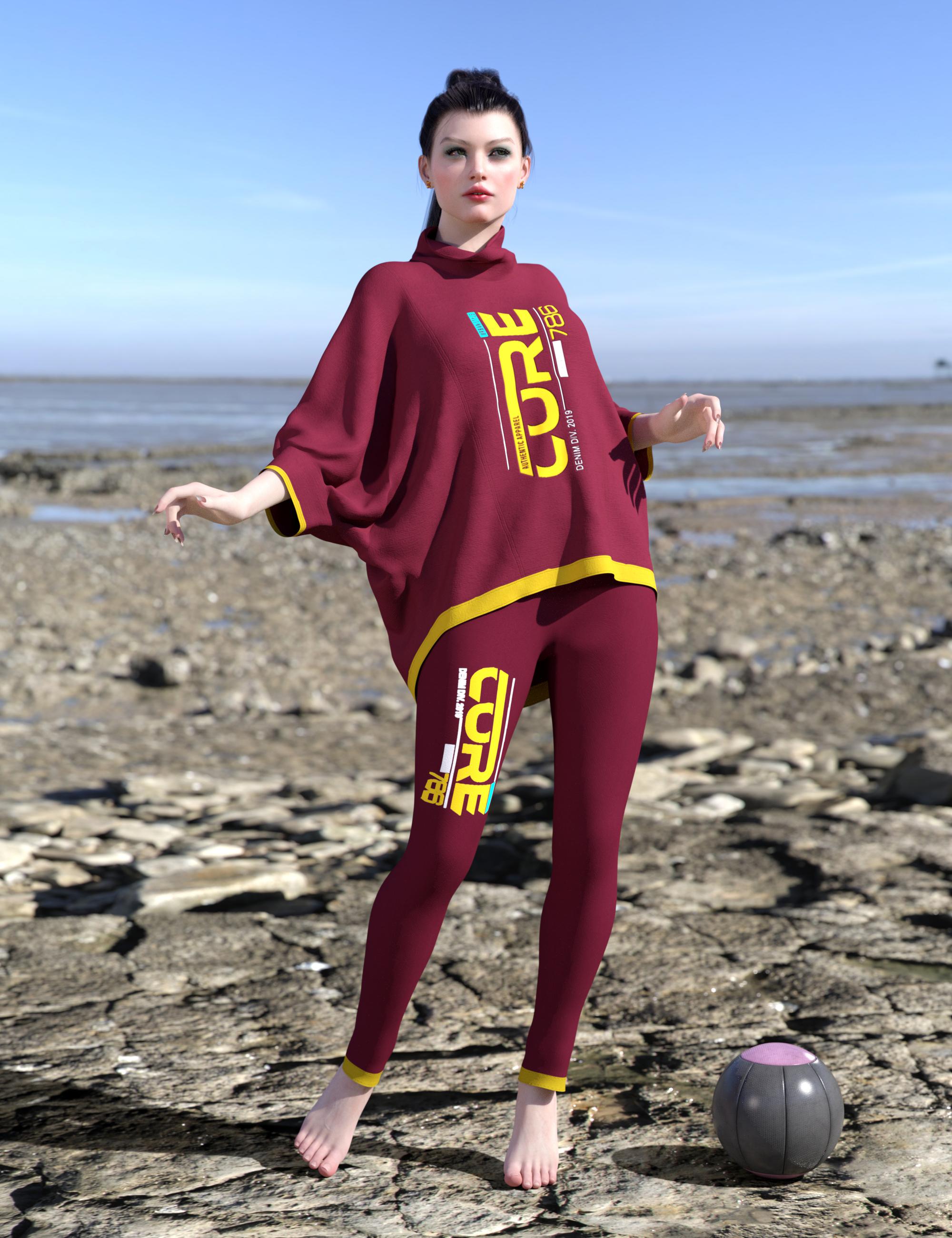 dForce Allegra Outfit Texture Expansion by: Nelmi, 3D Models by Daz 3D