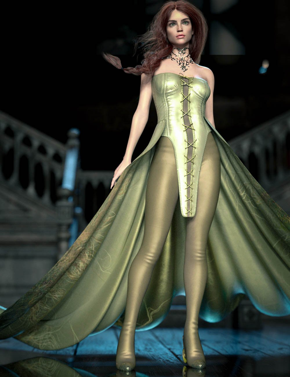 CB Sophia dForce Clothing Set for Genesis 8 and 8.1 Females by: CynderBlue, 3D Models by Daz 3D