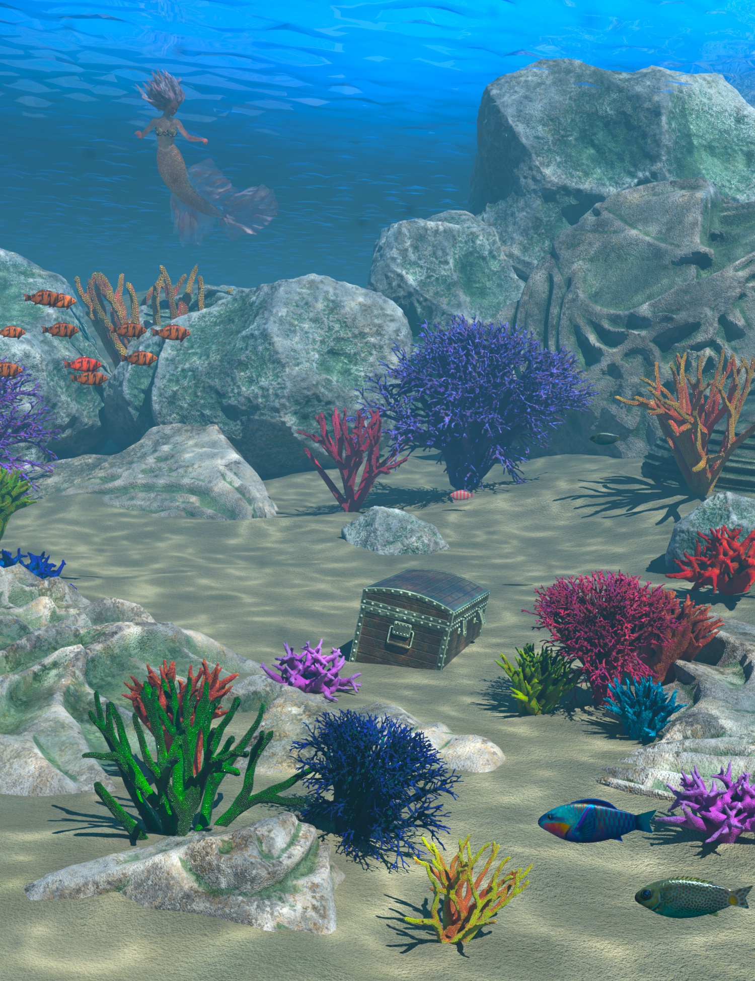 Underwater Shred by: 3D-GHDesignSadeAe Ti, 3D Models by Daz 3D