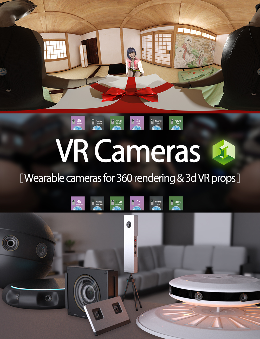 VR Cameras for Genesis 8 Male and Female by: JDA HDRI, 3D Models by Daz 3D
