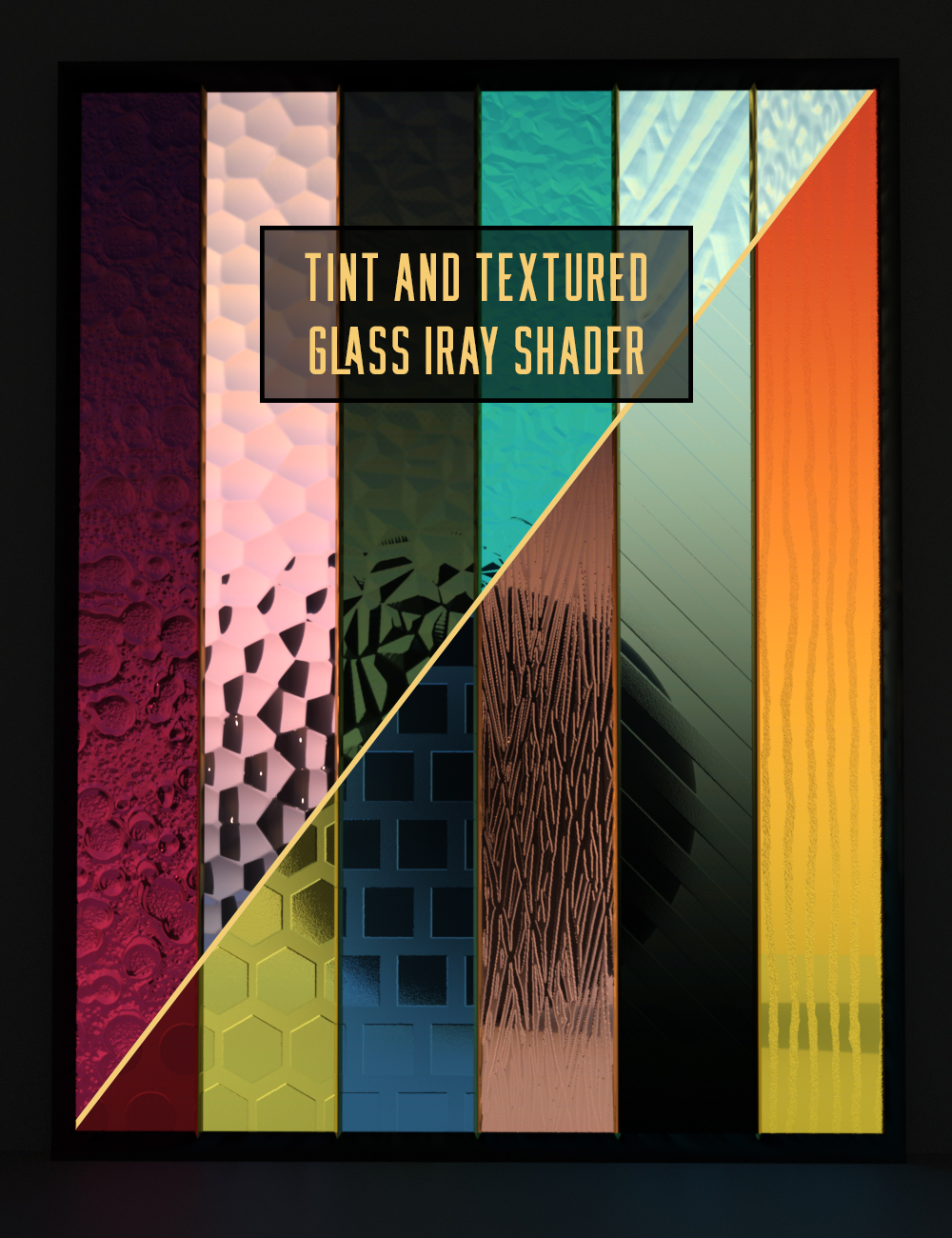 Tinted and Textured Glass Iray Shaders by: Censored, 3D Models by Daz 3D