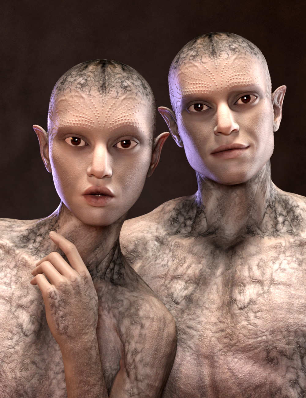 Calique and Calix HD for Genesis 8.1 Male by: Vyusur, 3D Models by Daz 3D