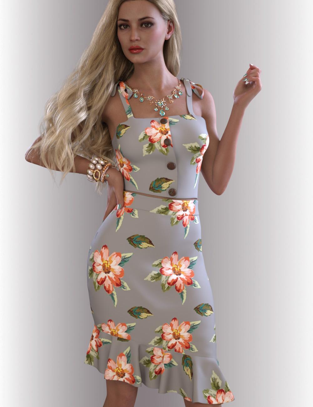 dForce Reina Outfit for Genesis 8.1 Females by: OnnelArryn, 3D Models by Daz 3D