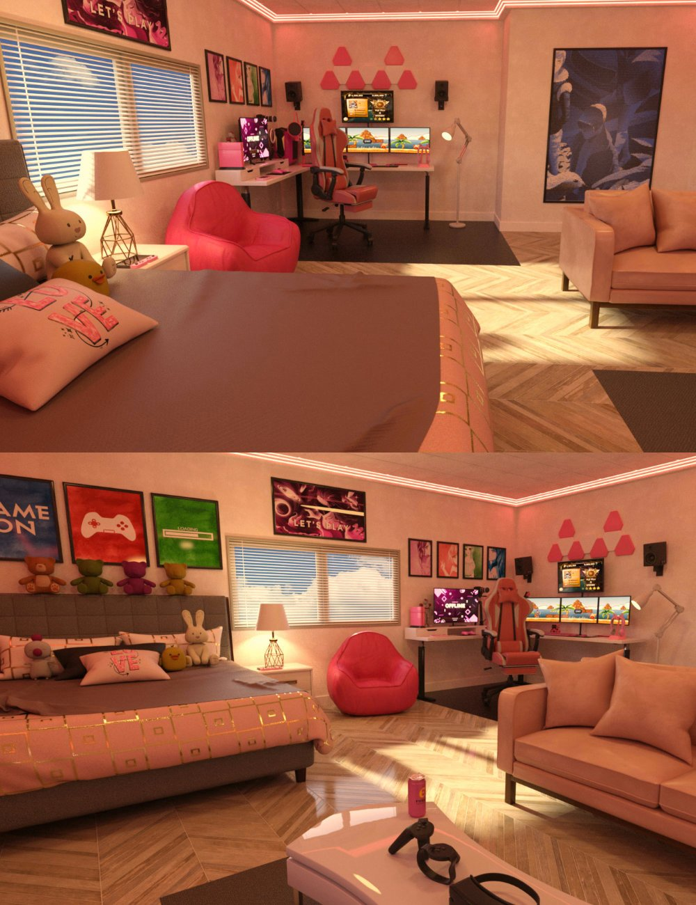 FG VR Gaming Room by: IronmanFugazi1968, 3D Models by Daz 3D