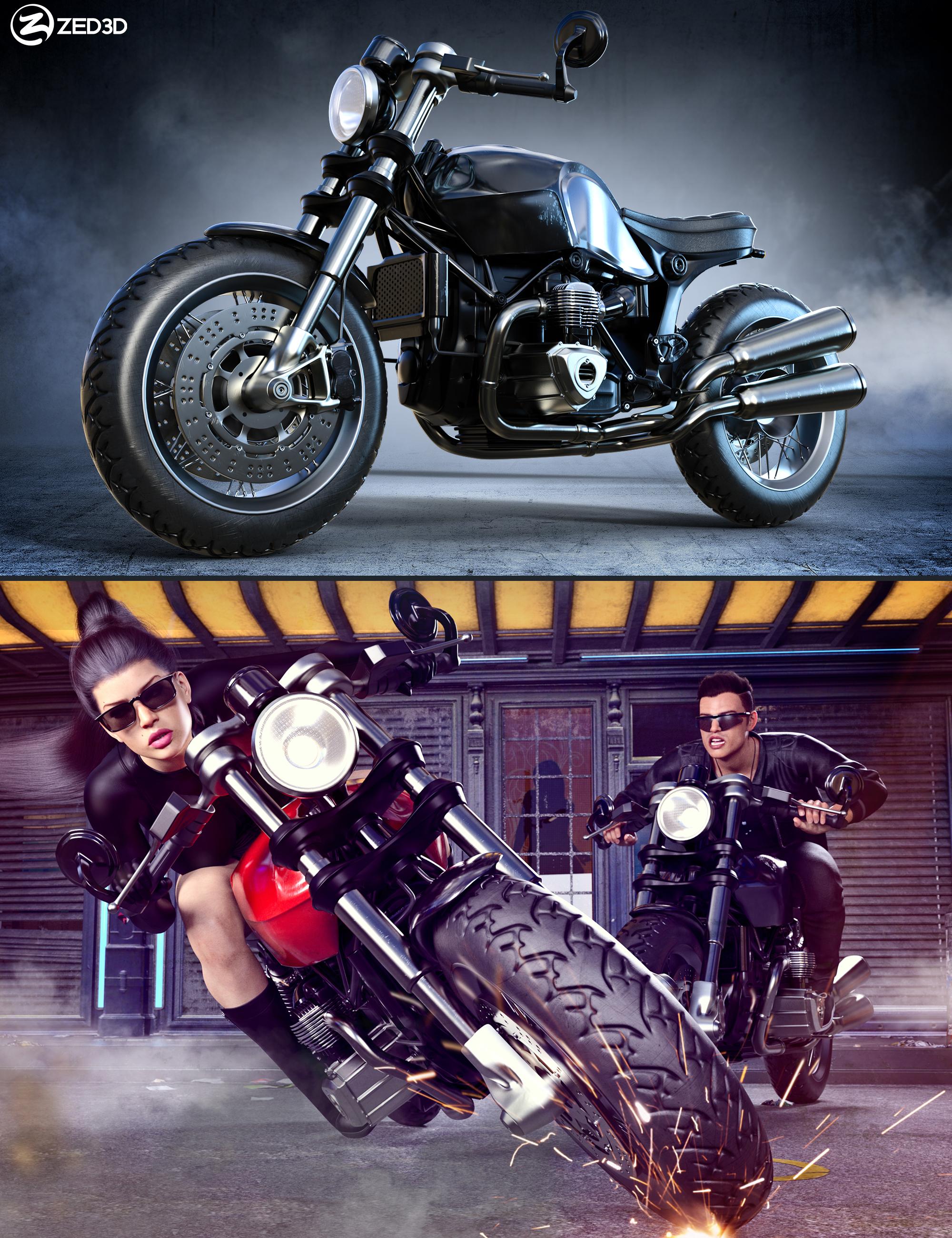 Z Modern Roadster Motorbike and Poses by: Zeddicuss, 3D Models by Daz 3D