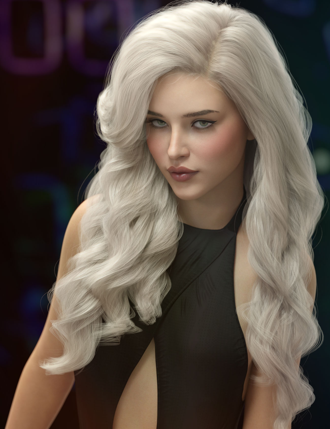 Ursula Hair for Genesis 3, 8, and 8.1 Females by: AprilYSH, 3D Models by Daz 3D