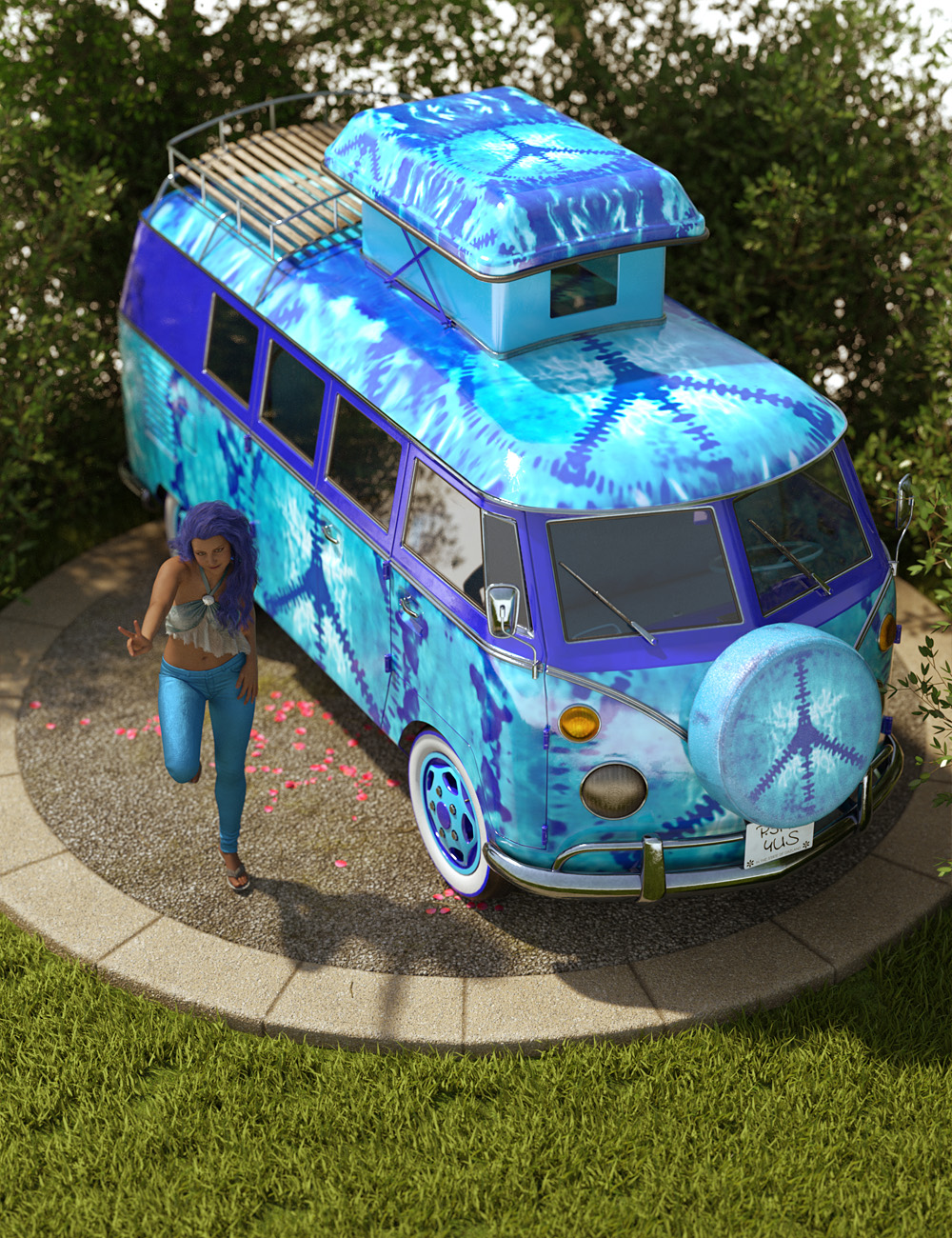 Retro Camper Van by: ForbiddenWhispersDavid Brinnen, 3D Models by Daz 3D