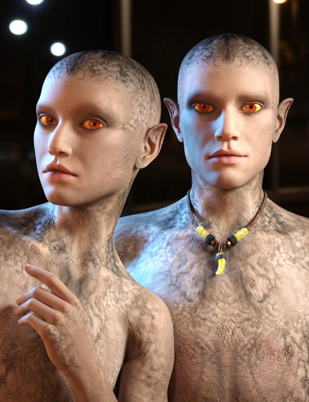 Calique and Calix for Genesis 8.1 Female by: Vyusur, 3D Models by Daz 3D